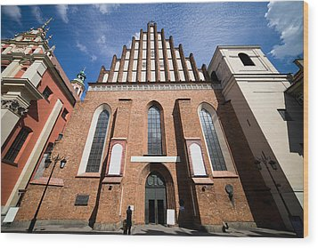 St. John Archcathedral In Warsaw Wood Print by Artur Bogacki