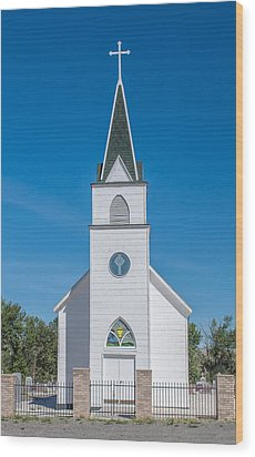 Wood Print featuring the photograph St. John The Evangelist Catholic Church by Fran Riley