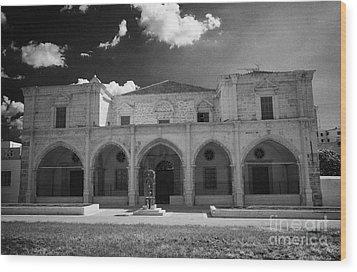 St Josephs Convent And Catholic Church St Joseph De L Apparition Larnaca Republic Cyprus Wood Print by Joe Fox