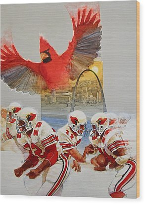 St Louis Cardinals1980 Game Day Cover And Media Guide Cover Wood Print by Cliff Spohn