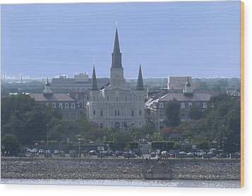 St. Louis Cathedral 2 Wood Print