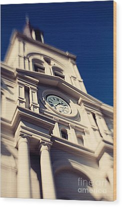 St Louis Cathedral Wood Print by Erin Johnson