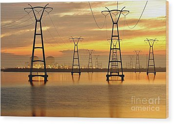 St. Lucie Nuclear Power Plant Wood Print by Don Youngclaus