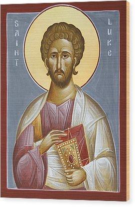 St Luke The Evangelist Wood Print by Julia Bridget Hayes