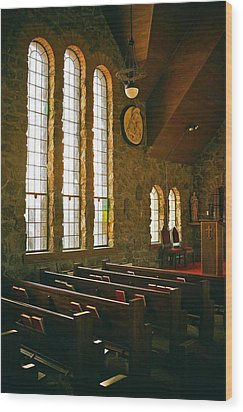Wood Print featuring the photograph St Malo Church by David Pantuso