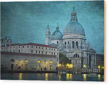 St Maria Della Salute From St Mark's  Wood Print by Marion Galt