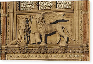 St. Mark The Winged Lion Wood Print by Chris Hill