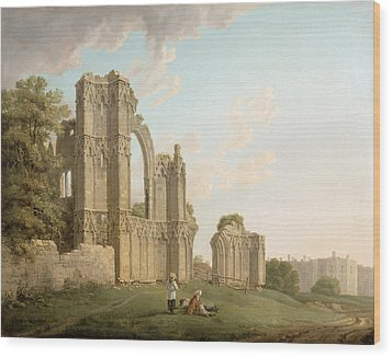 St Mary's Abbey -york Wood Print by Michael Rooker