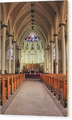 St. Mary's Basilica Halifax Wood Print by Kristin Elmquist