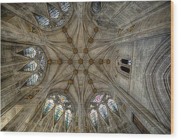 St Mary's Ceiling Wood Print by Adrian Evans