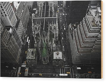 St. Patricks Cathedral Wood Print by Marcel Krasner