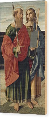 St. Paul And St. James The Elder Wood Print by Cristoforo Caselli