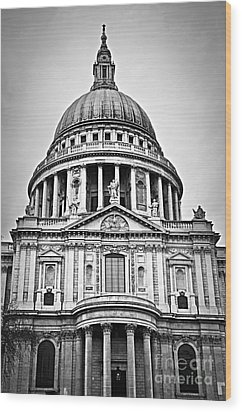 St. Paul's Cathedral In London Wood Print by Elena Elisseeva