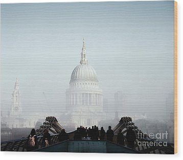 St Paul's Cathedral Wood Print by Pixel  Chimp