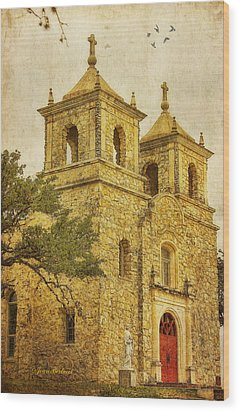 Wood Print featuring the photograph St. Peter The Apostle Church by Joan Bertucci