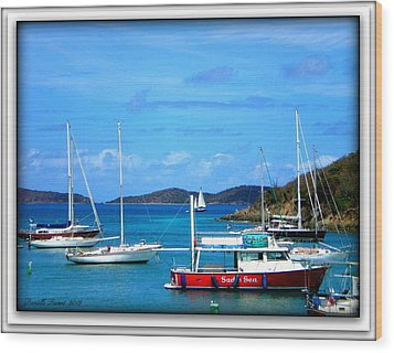 Wood Print featuring the photograph St-thomas Virgin Islands by Danielle  Parent