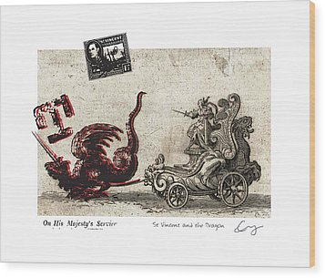 St Vincent And The Dragon Wood Print by Chrystle Wolff