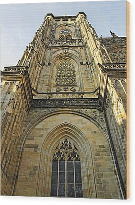 St Vitus Cathedral Prague - The Realms Of 'non-being' Wood Print by Christine Till