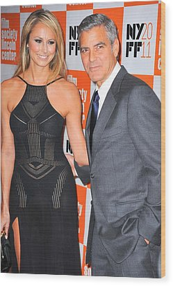 Stacy Keibler, George Clooney Wood Print by Everett