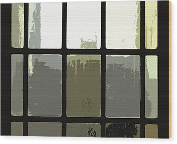 Stained Glass Doors 2 Wood Print by Peter  McIntosh