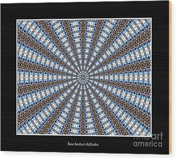 Stained Glass Kaleidoscope 32 Wood Print by Rose Santuci-Sofranko