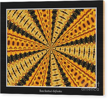 Stained Glass Kaleidoscope 37 Wood Print by Rose Santuci-Sofranko