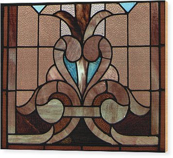 Stained Glass Lc 06 Wood Print by Thomas Woolworth