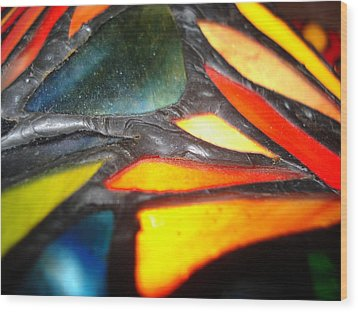 Stained Glass One Wood Print