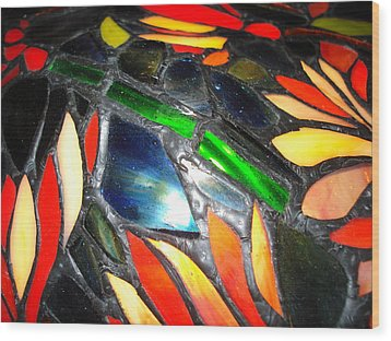 Stained Glass Three Wood Print