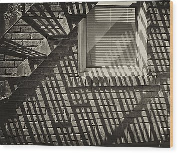 Stair Shadow Wood Print by Tom Bush IV
