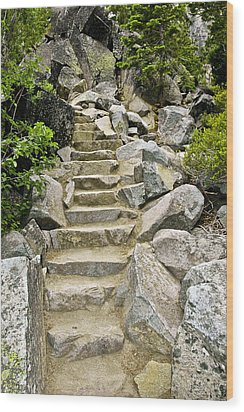 Staircase To Eagle Falls Lake Tahoe Wood Print by LeeAnn McLaneGoetz McLaneGoetzStudioLLCcom