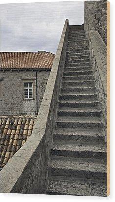 Stairs 1 Wood Print by Madeline Ellis