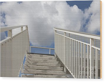 Stairs And Clouds Wood Print by Jaak Nilson