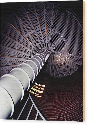 Stairs To The Light Wood Print by Skip Willits