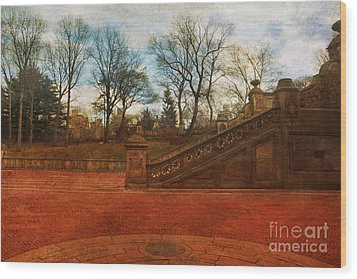 Stairway In Central Park Wood Print