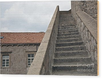 Stairway In Dubrovnik Wood Print by Madeline Ellis