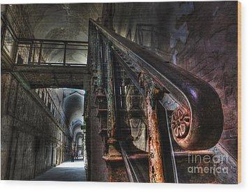 Stairway Of Terror - Eastern State Penitentiary Wood Print by Lee Dos Santos