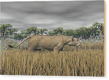 Wood Print featuring the digital art Stalking Prey by Walter Colvin