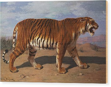Stalking Tiger Wood Print