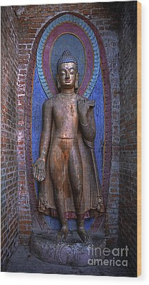 Standing Buddha - Nepal Wood Print by Craig Lovell