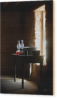 Wood Print featuring the photograph Standing In The Shadow Of Time by Vicki Pelham