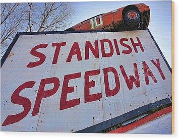 Standish Speedway Wood Print by Gordon Dean II