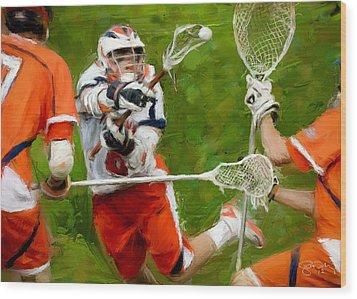 Stanwick Lacrosse 2 Wood Print by Scott Melby