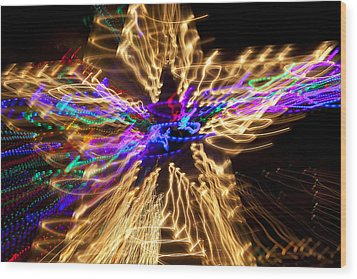Star Abstract Wood Print by Garry Gay