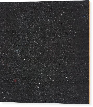 Star Cluster M35 Wood Print by Eckhard Slawik