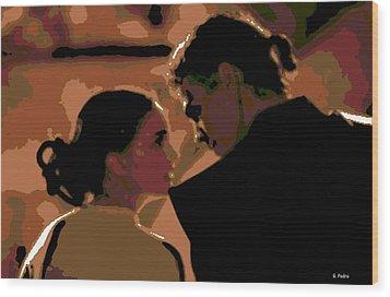 Star Crossed Lovers Wood Print by George Pedro