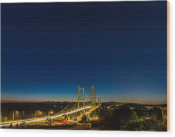 Wood Print featuring the photograph Star Night Over The Narrows by Ken Stanback