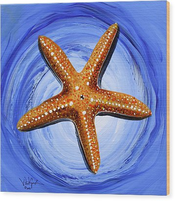 Star Of Mary Wood Print by J Vincent Scarpace
