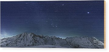 Star Panorama Wood Print by RICOWde
