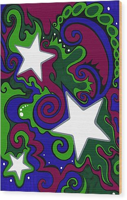 Star Slime Wood Print by Mandy Shupp
